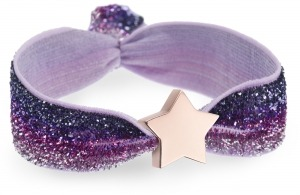 personalised girls ombre purple bracelet with rose gold star bead
