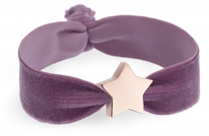 personalised vintage lilac velvet bracelet with rose gold star bead