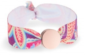 bright paisley bracelet with rose gold circle bead