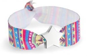 festival bracelet with silver star bead