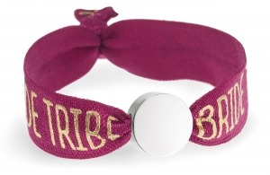 personalised bride tribe berry red bracelet with silver circle bead