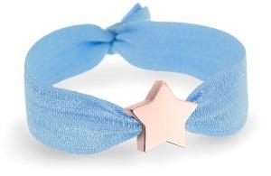 something blue soft blue bracelet with rose gold star bead