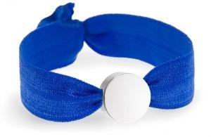 something blue cobalt blue bracelet with silver circle bead