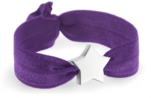 purple bracelet with personalised silver star