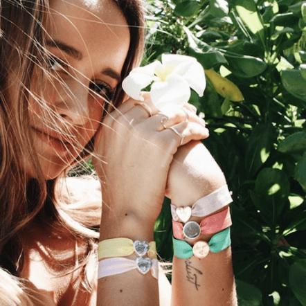 personalised daffodil stretch bead bracelet