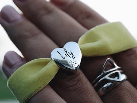 personalised sunshine velvet stretch bracelet