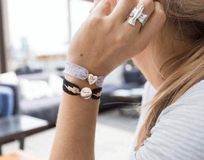 personalised lightning bolt stretch bead bracelet