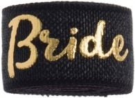 Bride Black & gold band