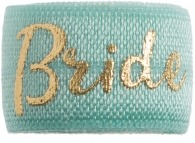 Bride Soft mint green & gold band
