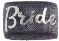 Bride Charcoal & silver band