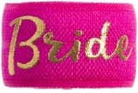 Bride Hot Pink & Gold band