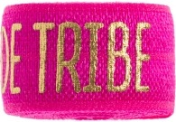 bride tribe hot pink band