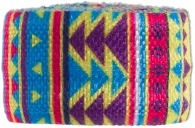 Multicoloured geometric Festival print band