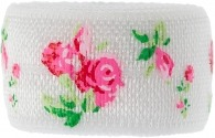 white and ditsy rose band