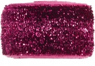 girls deep pink glitter band