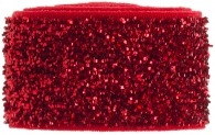Ruby red glitter band