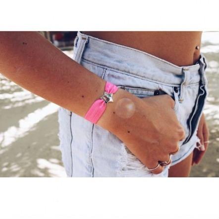 personalised hot pink bracelet