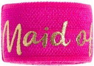 maid of honor hot pink band