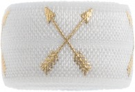 White & gold crossed arrows band