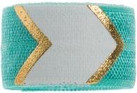 Turquoise, white & gold chevron band