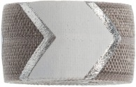 Grey, white & silver Chevron band