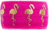 Hot pink and gold Flamingo band