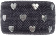 Charcoal grey & Silver hearts band