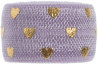 Lilac purple & Gold hearts band