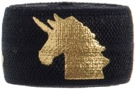 Black & gold unicorn band