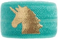 Turquoise & gold unicorn band