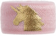 Soft pink & gold unicorn band