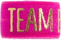 Team bride hot pink band