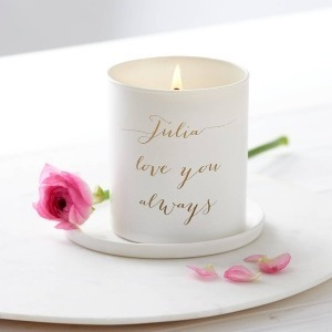 scented candle personalised with your message