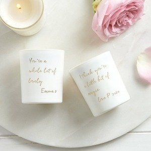 personaslied mini message candle with your name