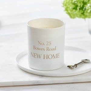 personalised new home candle with address