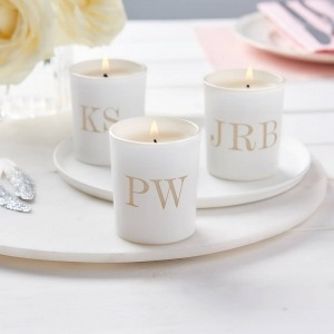 personalised wedding initial candles