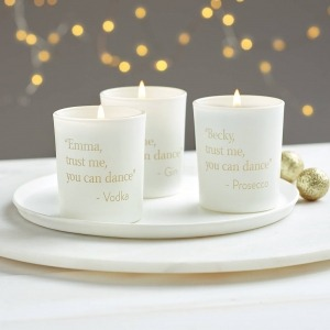personalised mini message candle