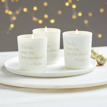 prosecco mini candle