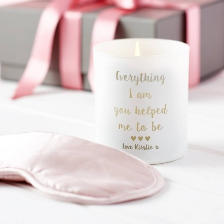 candle and eyemask gift set