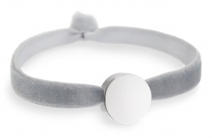 dove grey bracelet with silver circle bead