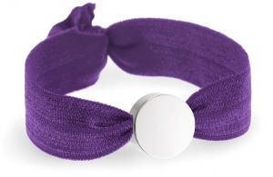girls personalised plum purple bracelet with silver circle bead