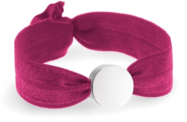 girls personalised berry red bracelet with silver circle bead