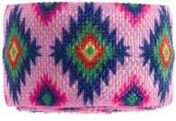 Girls pink aztec bracelet